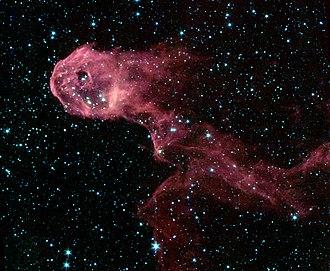 Elephant's Trunk nebula - Spitzer Space Telescope photo of the nebula