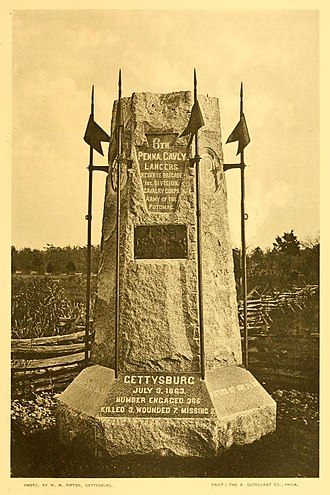 Frank Furness - 6th Pennsylvania Cavalry Monument, Gettysburg Battlefield (1888).