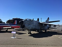 "A-7D ""Corsair II"" on display at the Aerospace Museum of California.jpg"