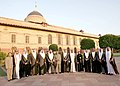 A.P.J. Abdul Kalam with the Vice-President and Prime Minister of the UAE and Ruler of Dubai, Mr. Shaikh Mohammed bin Rashid Al Maktoum and his delegation, in Mughal Garden of Rashtrapati Bhavan, in New Delhi.jpg