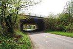 A21 bridge crosses Upper Haysden Lane