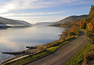 A85 road - Image: A85 at St Fillans geograph.org.uk 1035378