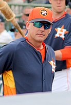 Picture of AJ Hinch, head coach of the Houston Astros in 2017