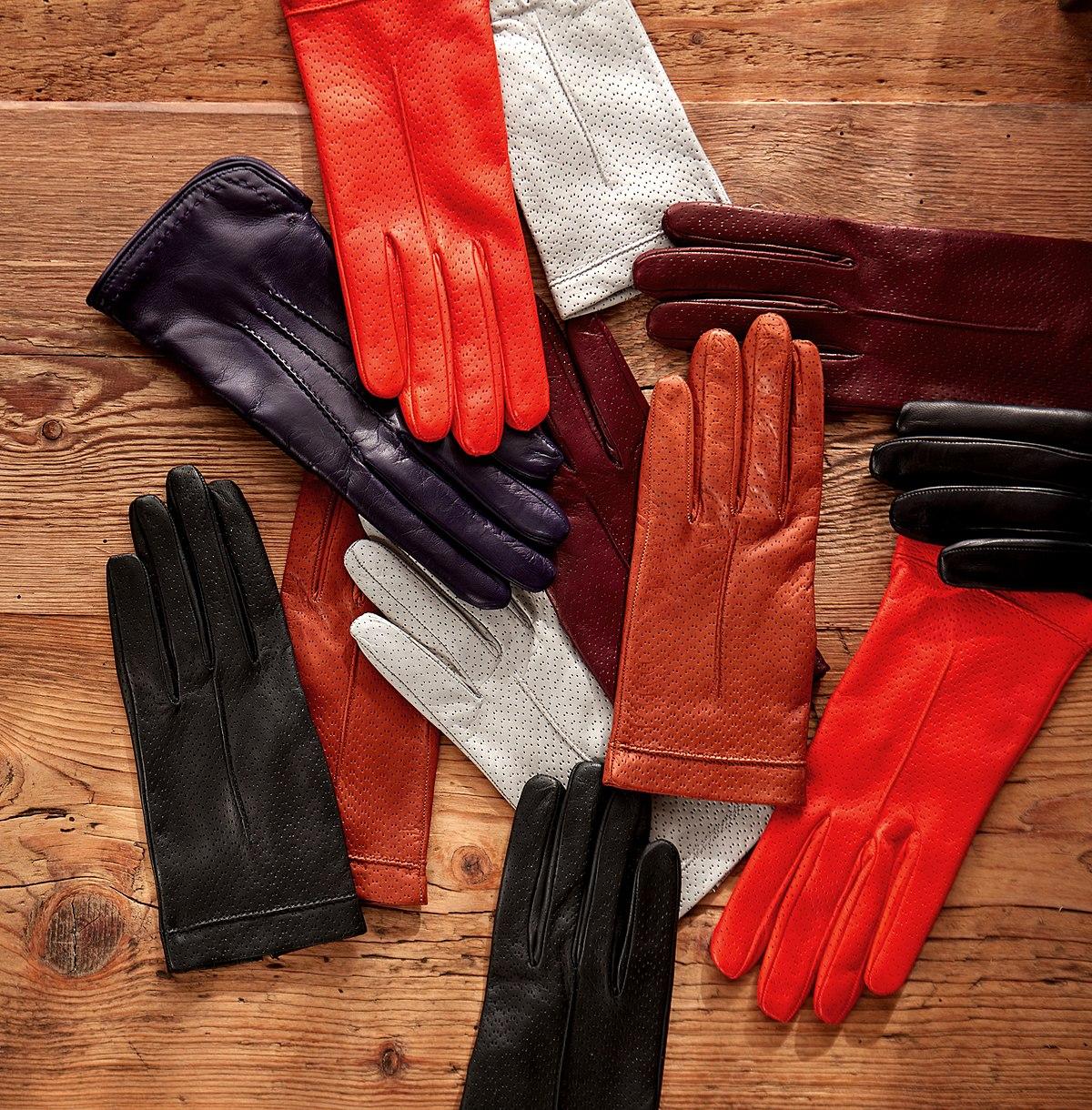 Black leather cut off gloves - Black Leather Cut Off Gloves 40