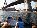 ANZAC Bridge from dragon boat.JPG