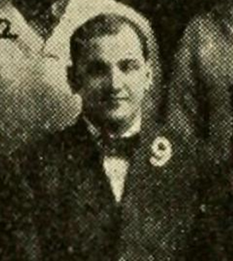 A. R. Kennedy - Kennedy pictured c. 1908 with the Kansas football team
