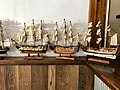 "A ""ship-rigged"" models of sailing ships at Woorim, Queensland 02.jpg"