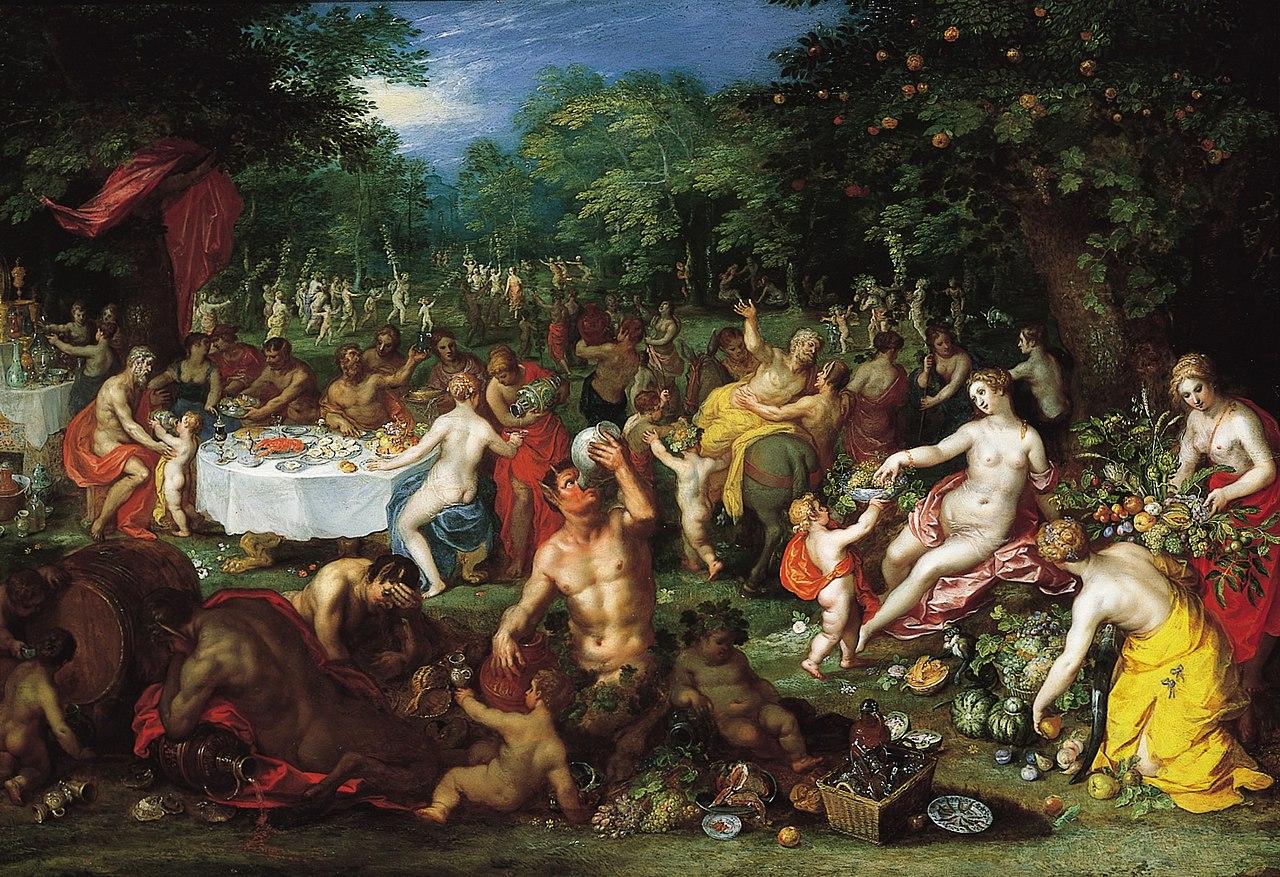 File A Bacchanal By Jan Brueghel The Elder And Hendrik Van