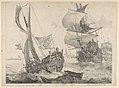 A Dutch Yacht and a Dutch warship, 2nd rate, ca.1675 RMG PY8611.jpg