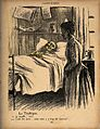A contagiously ill man asks for the bed-pan; the nurse tells Wellcome V0011831.jpg