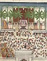 A gathering at the Shrinathji temple, c.1880, in Mewar style.jpg