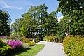 A path and flowers in Stadtsparken, Örebro.jpg