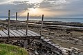 A pier during low tide on the beach in Ayia Marina Chrysochous, Paphos District, Cyprus.jpg