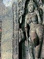 A wall sculpture, Ajanta Caves.jpg