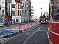 Aanleg tramhaltes Spui 2010 2.jpg