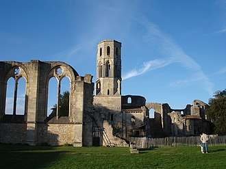 Grande-Sauve Abbey - Abbey entrance