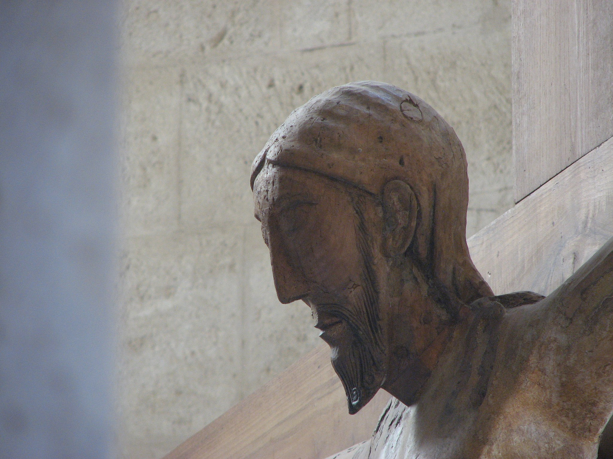 Abbazia di Sant'Antimo - 39 - Primo piano del crocifisso dell'altare maggiore