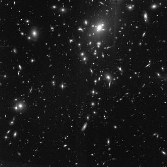 Abell 1835 IR1916 - The galaxy cluster Abell 1835 behind which the galaxy Abell 1835 IR1916 was discovered