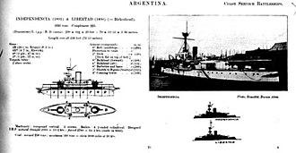 ARA Independencia (1891) - ARA Independencia details in Jane's 1902 edition