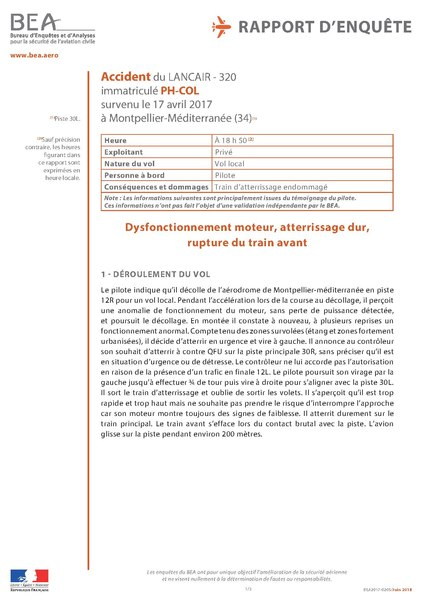 File:Accident to the Lancair 320 registered PH-COL on 17042017 at Montpellier (34).pdf