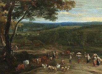 Lucas Achtschellinck - Image: Achtschellinck lucas 1626 1699 an extensive landscape with fi