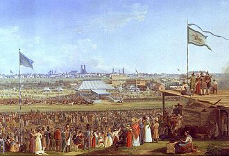 Oktoberfest - Horse race at the Oktoberfest in Munich 1823
