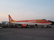 A A Adam Air 737 at parking