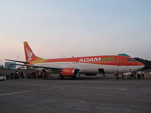 Adam Air - An Adam Air 737 Parked
