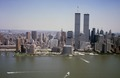 Aerial view of New York City, in which the World Trade Center Twin Towers is prominent LCCN2011632531.tif