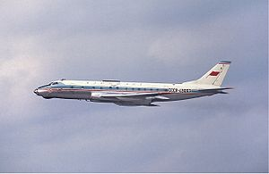 Aeroflot accidents and incidents in the 1970s - An Aeroflot Tupolev Tu-124V is seen here after takeoff from Stockholm-Arlanda Airport, Sweden. (1967)