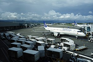 Tocumen International Airport - Copa Airlines aircraft at Tocumen International Airport