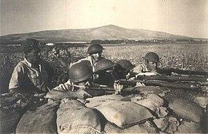 Long gun - Haganah paramilitaries in 1948 using long guns.