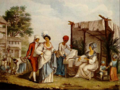 Agostino Brunias - The linen market at Saint-Domingue, 1804.png