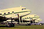 Air Atlantique DC-3s at CVT (15955676708).jpg