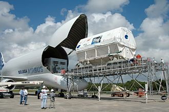 Airbus Beluga - Unloading the Space Station Columbus module in 2006