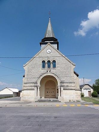 Aire, Ardennes - Image: Aire (Ardennes) Église