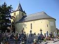 Alçay (Alçay-Alçabéhéty-Sunharette, Pyr-Atl, Fr) église et cimetière avec stèles basques.JPG