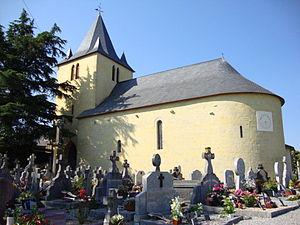 Alçay-Alçabéhéty-Sunharette - Saint Peter's Church and the cemetery at Alçay