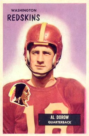 Al Dorow - Dorow on a 1955 Bowman football card