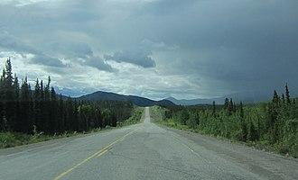Ibex Valley, Yukon - Alaska Highway through Ibex Valley