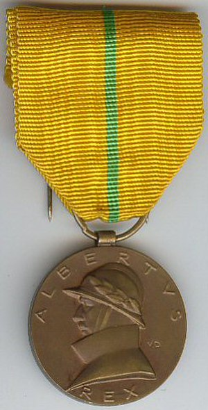 Commemorative Medal of the Reign of King Albert I - Image: Albert I commemorative medal Belgium