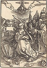 Albrecht Dürer, The Holy Family with Five Angels, in or before 1505, NGA 6717.jpg