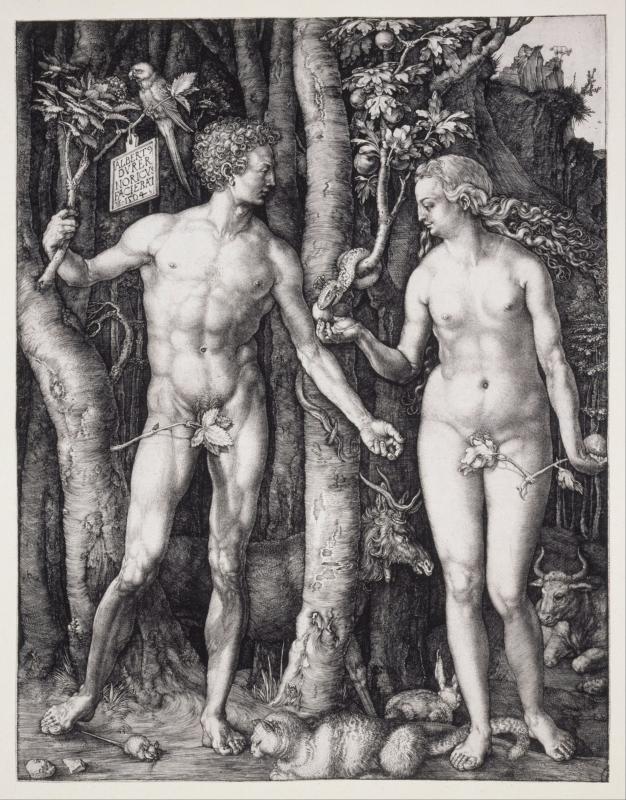 Albrecht Dürer - The Fall of Man (Adam and Eve) - Google Art Project
