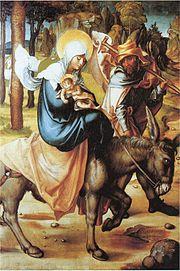 Mary, Joseph and the child Jesus. Albrecht Dürer.