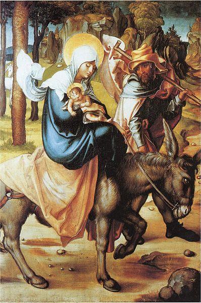Huida a Egipto. Alberto Durero 1494–1497.