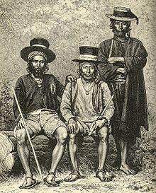 Prefeitos maias em cidade da Guatemala - 1891.