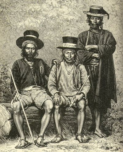 Town alcaldes of Highland Guatemala in traditional dress, 1891 AlcaldesGuatemala1891.jpg