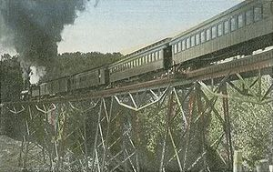 Hancock, New Hampshire - Alcott Trestle c. 1905