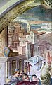 Alessandro fei, s. domenico resuscita napoleone, nipote del cardinale orsini, 1581-84, 05 antica basilica di san pietro.jpg