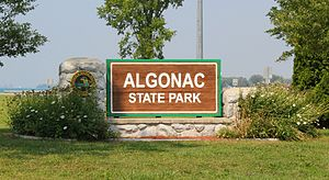 St. Clair County, Michigan -  Entrance to Algonac State Park